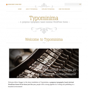 Typominima wordpress freelancer mumbai india theme