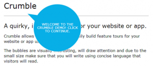 jQuery Crumble Plugin for website quick feature tours