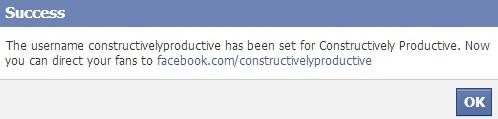 facebook page custom url